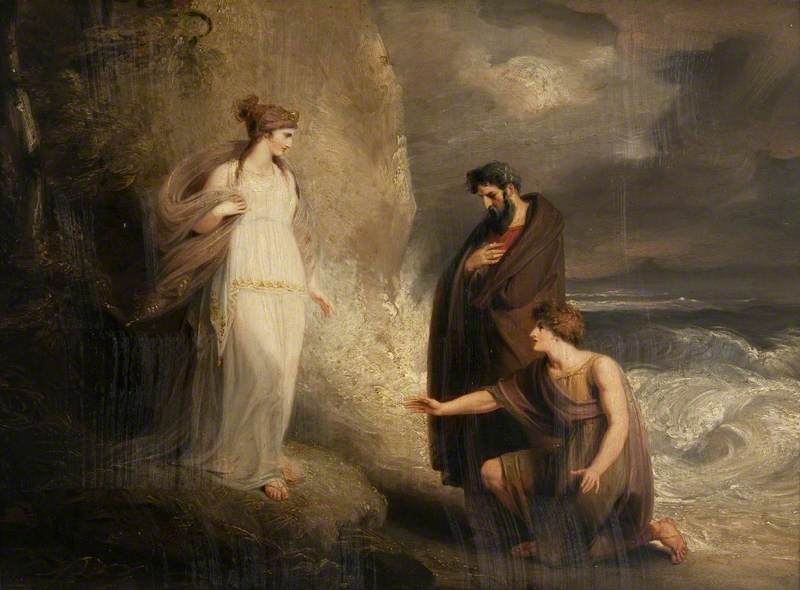 Telemachus Landing On The Isle Of Calypso From Homers Odyssey